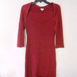 XOXO Red Mini Form Fitting Dress Size